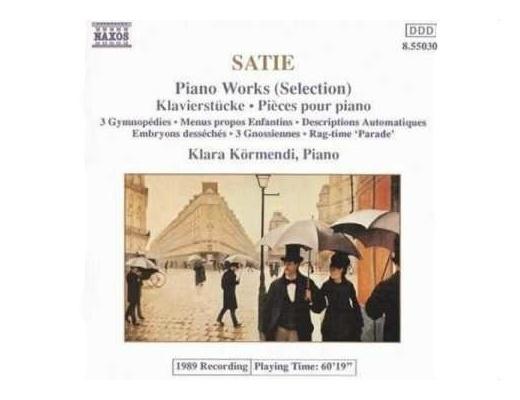 Erik Satie - Gymnopédies - A selection of Piano Pieces - CD
