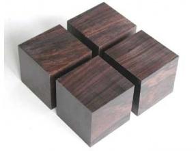 Yamamoto QB-4 Big Cube base made from African ebony (Set of 4)