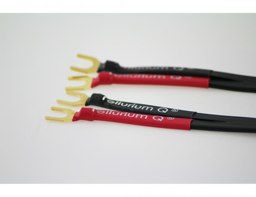 """Tellurium Q """"Spade Plug"""" Beryllium-copper Spade Plugs (set of 4)"""
