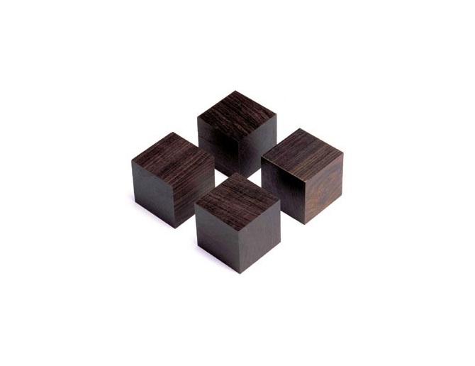 Yamamoto QB-3 Cube base made from African ebony (Set of 4)