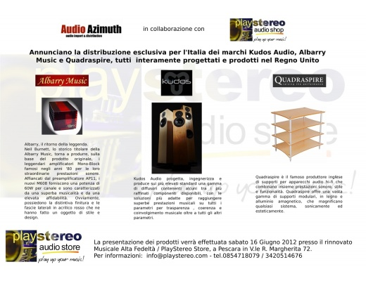 EVENTO DEMO3 Presentazione ufficiale Kudos, Albarry, Quadraspire