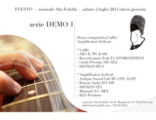 EVENTO serie DEMO1 - Comparativa Cuffie / Amplificatori dedicati
