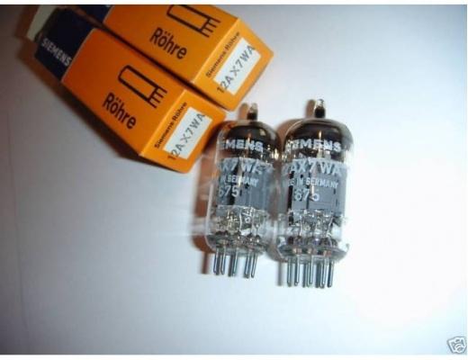 Valvole Siemens 12AX7WA / ECC83 N.O.S.