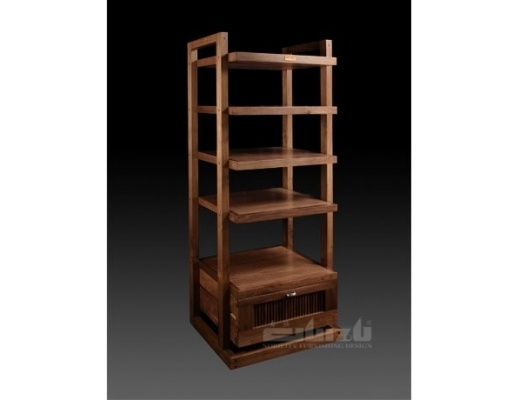 Guizu WFP-4A Wright style four shelves cabinet with drawers