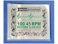 100 Pack Resealable 45 RPM Sleeves