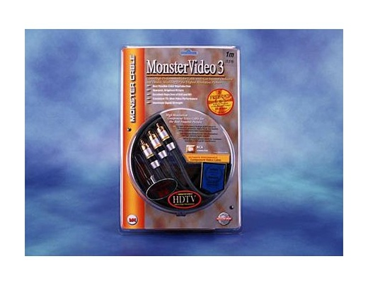 Monster Video3 MV3CV 3 Video RCA Cables