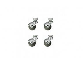 Quadraspire QCST Silver Castors 4-Pack